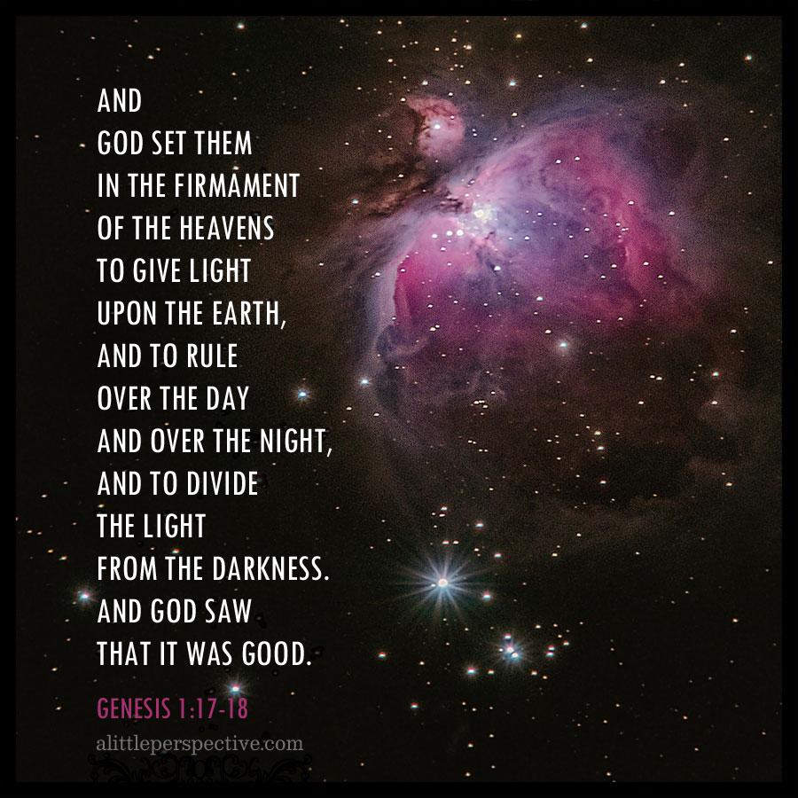 Gen 1:17-18 | alittleperspective.com