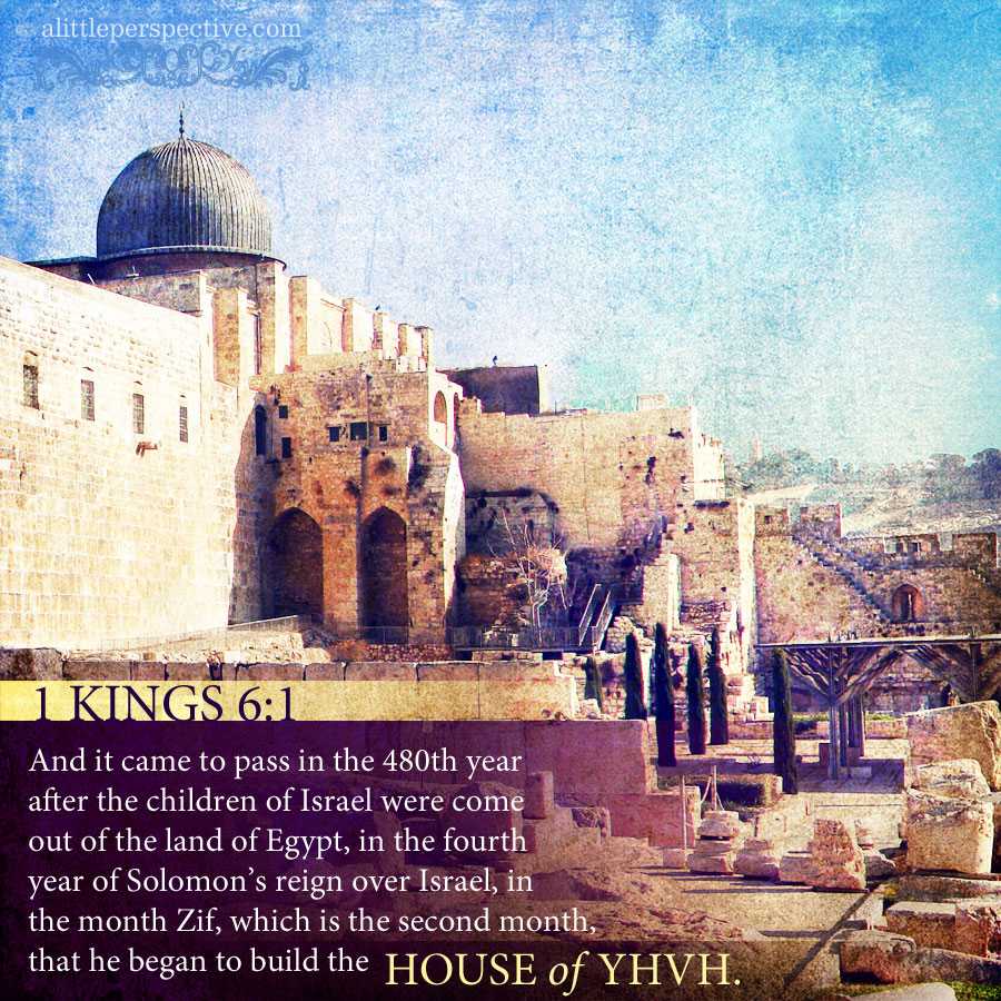 1 Kin 6:1 | scripture pictures @ alittleperspective.com